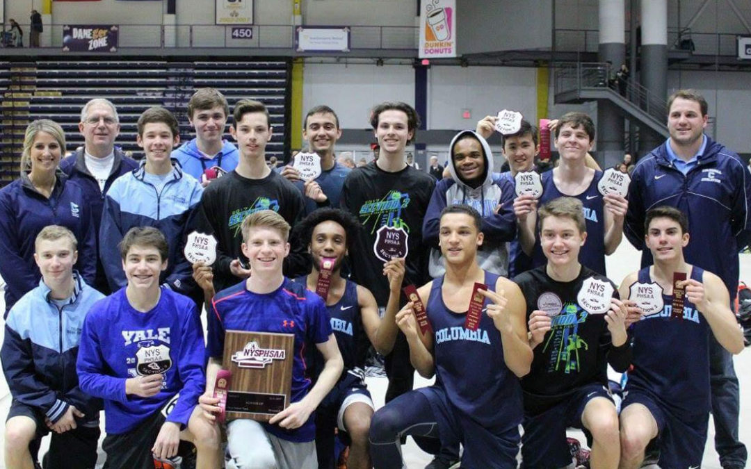 Columbia Boys' Indoor Track Team Places 2nd at Sectional Championships