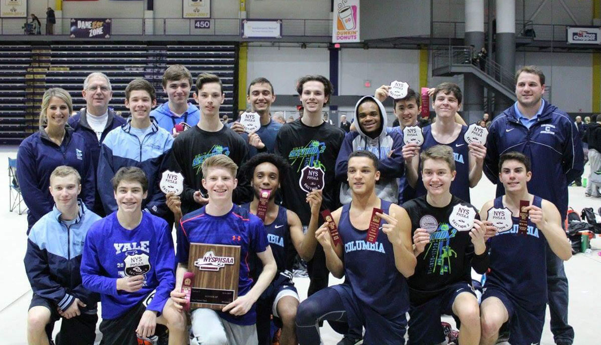 Columbia Boys' Indoor Track Team