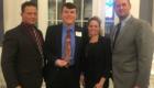 L to R: Columbia Principal John Sawchuk, Alex DeMarco, and Columbia Assistant Principals Sarah Hoffman and Tim Malloy.