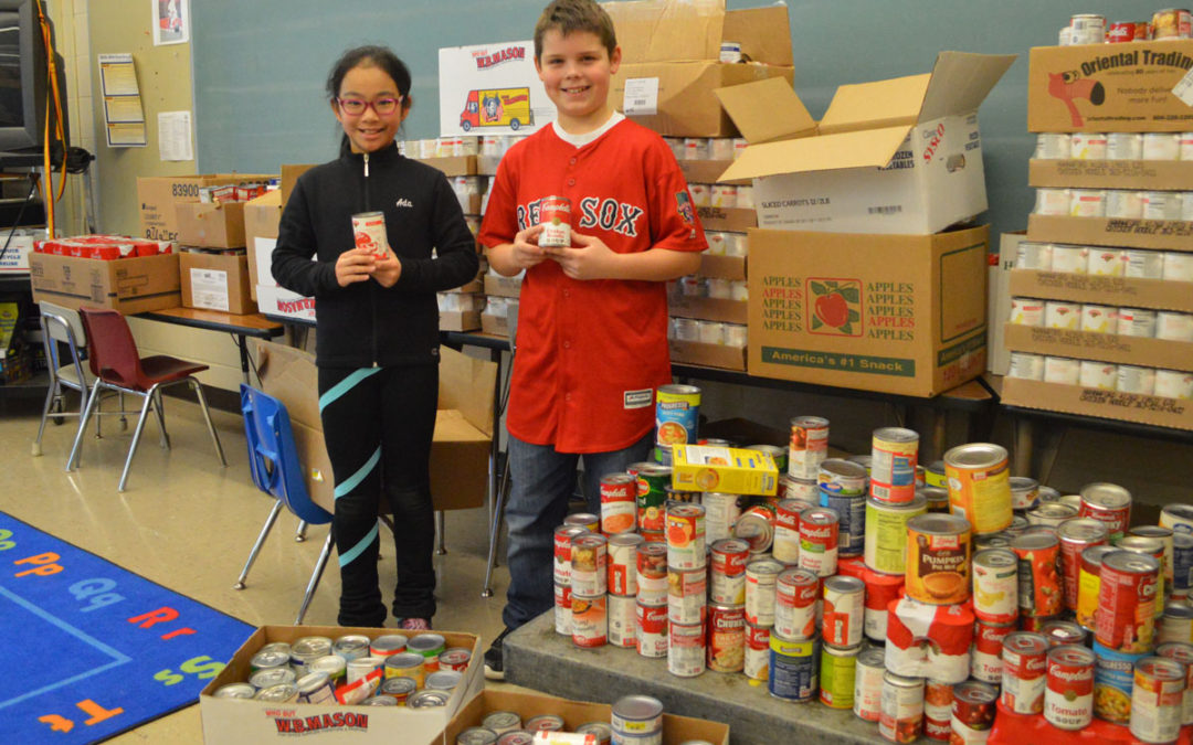 Schools Donate 6,000 Cans to Local Food Pantries