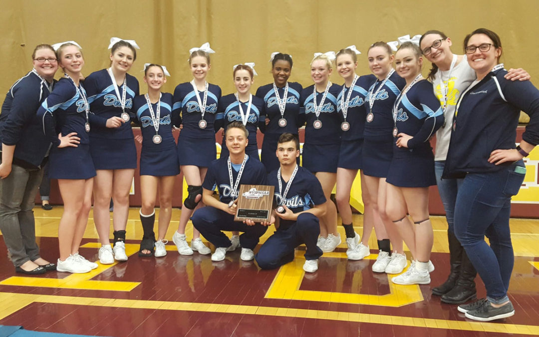 Columbia Cheer Team Places 2nd at Sectionals