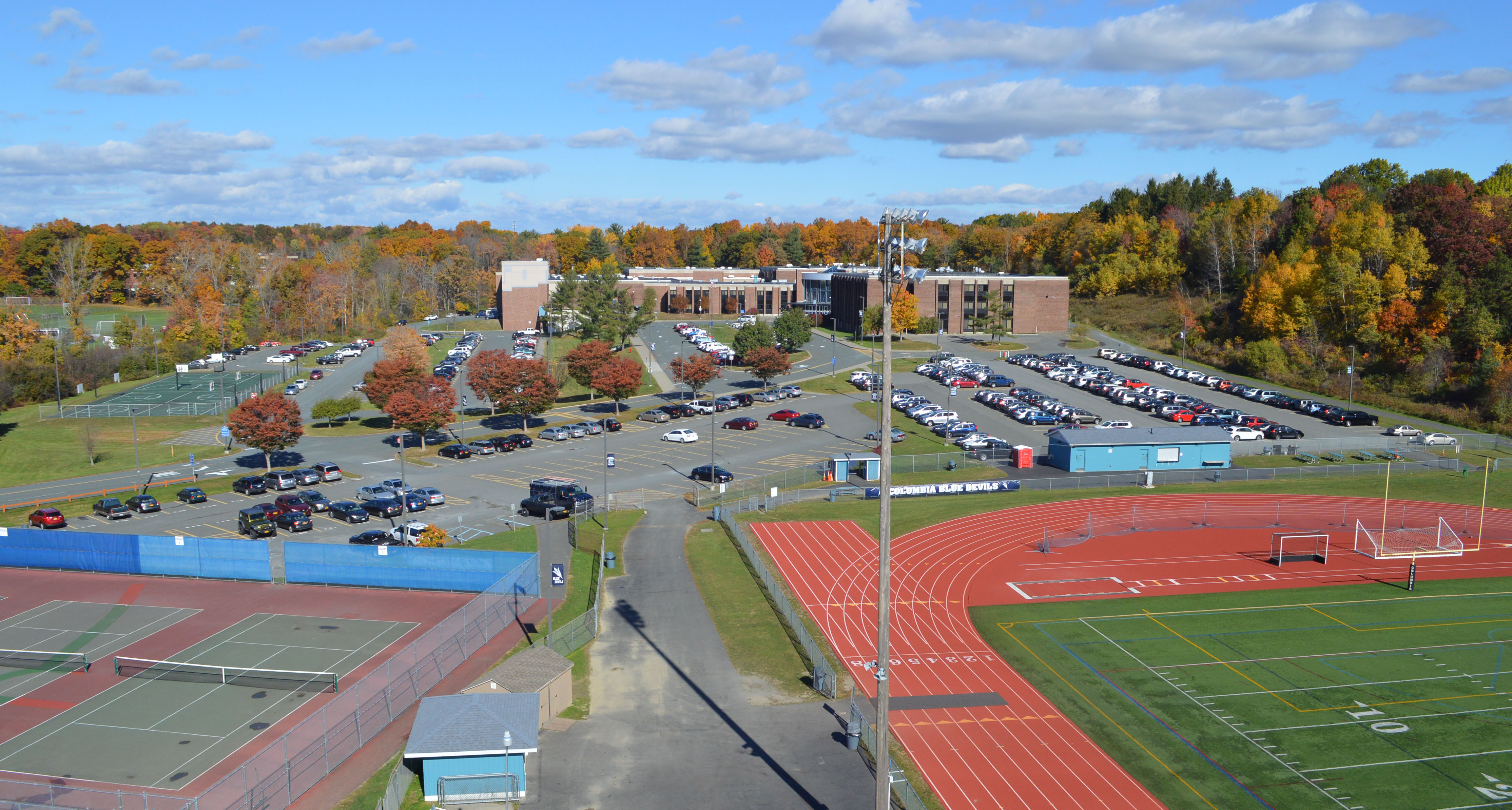 Columbia High School aerial