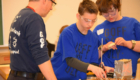 Students build during Science Olympiad competition