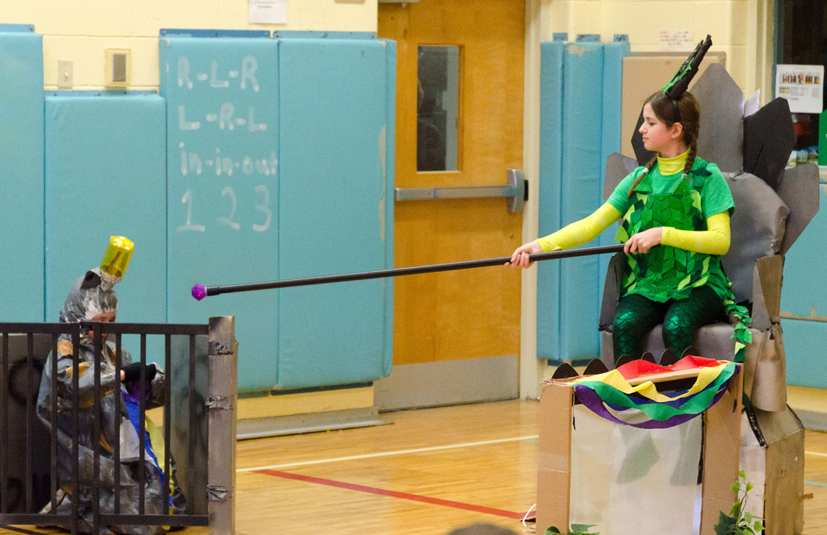 Students competing in Odyssey of the Mind