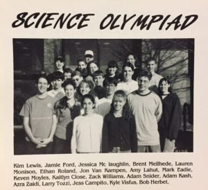 1999 Columbia Science Olympiad team