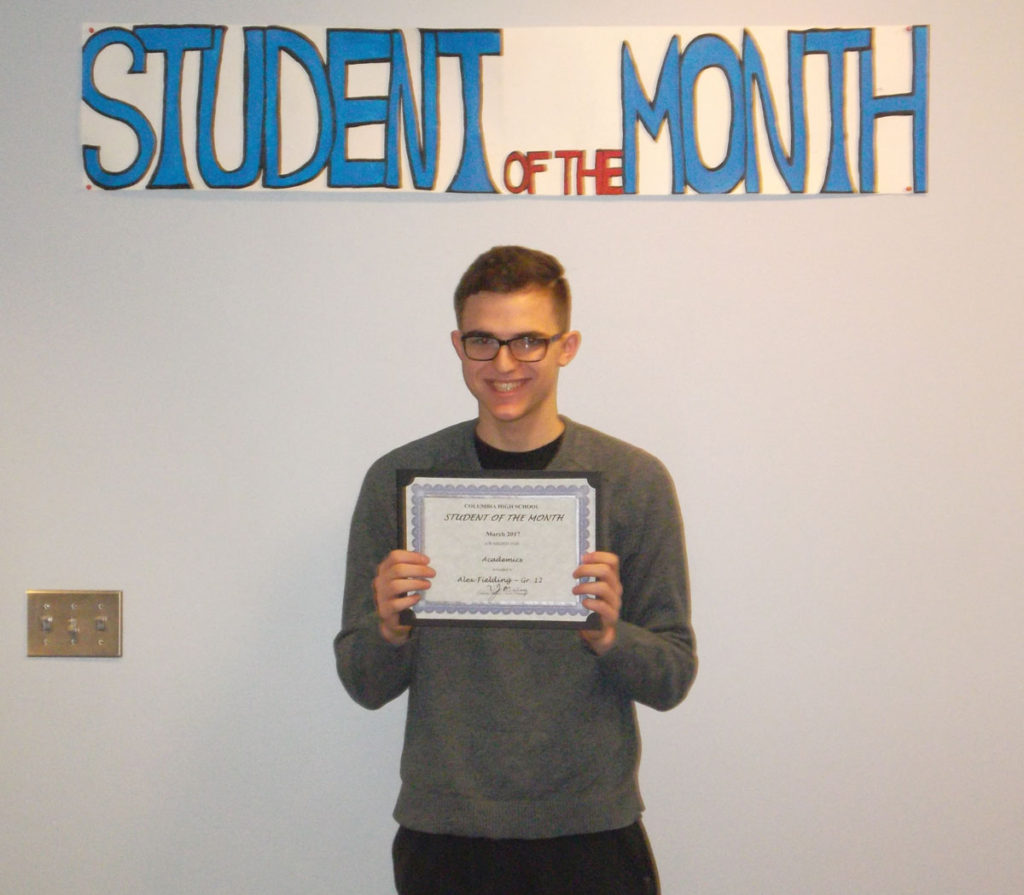 Alex Fielding named CHS Student of the Month
