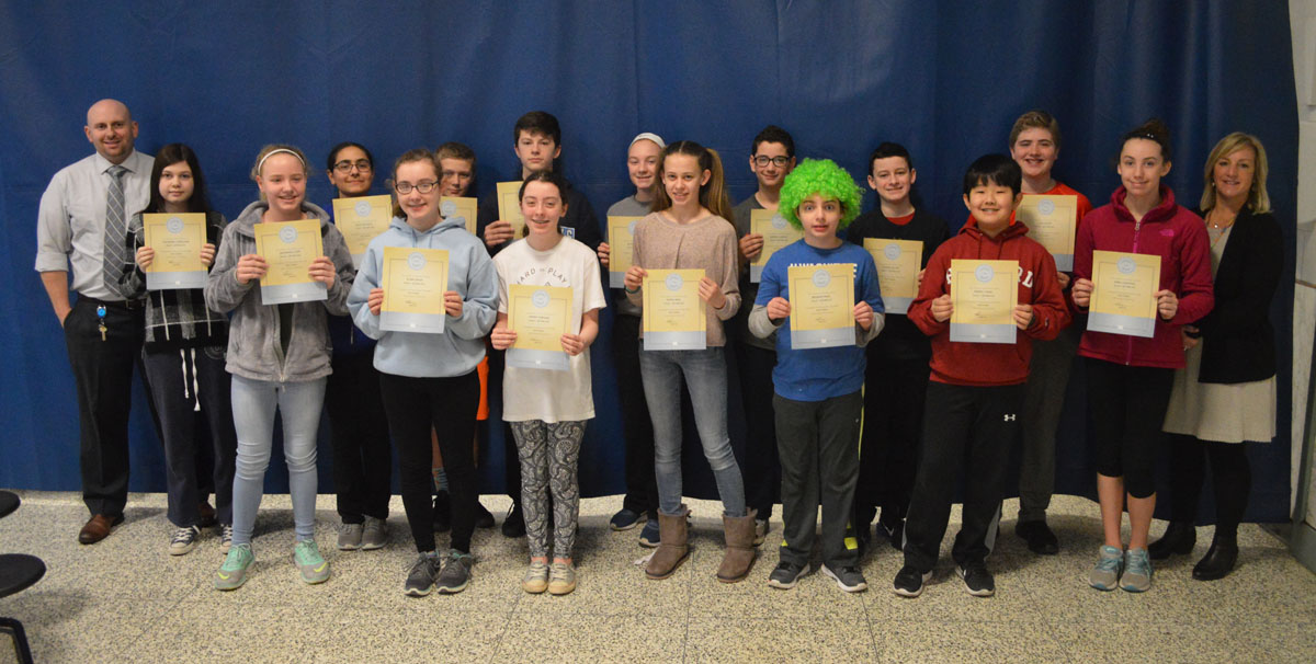Goff Students of the Month - 7th Grade