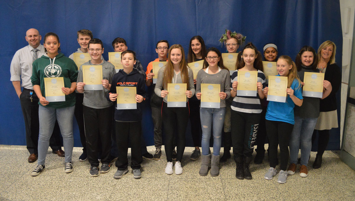 Goff Students of the Month - 8th Grade