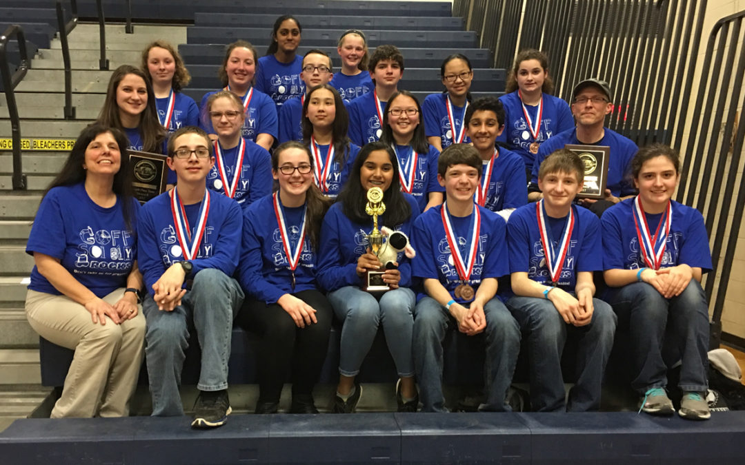 Goff Science Olympiad Places 4th at State Championships