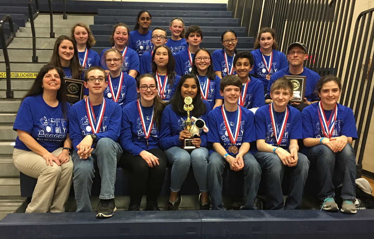 Goff Science Olympiad Team at the 2017 State Tournament