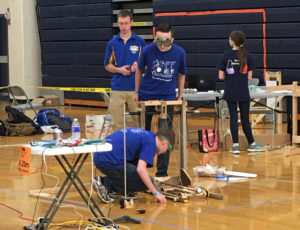 Goff students competing at the Science Olympiad State Tournament