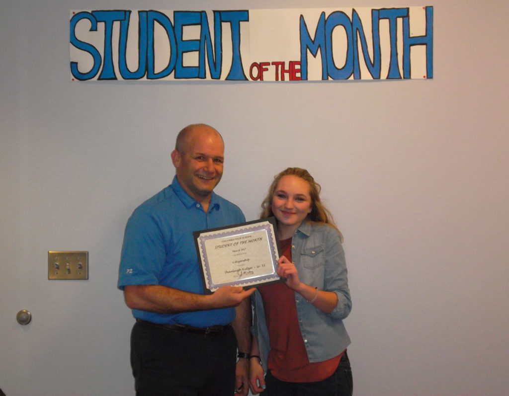 Shanleigh Kutzer named CHS Student of the Month