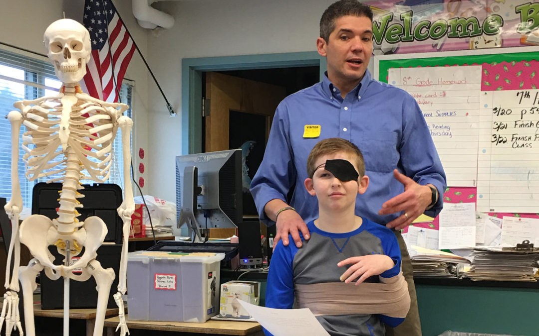 Physical Therapist Speaks to Goff Science Class