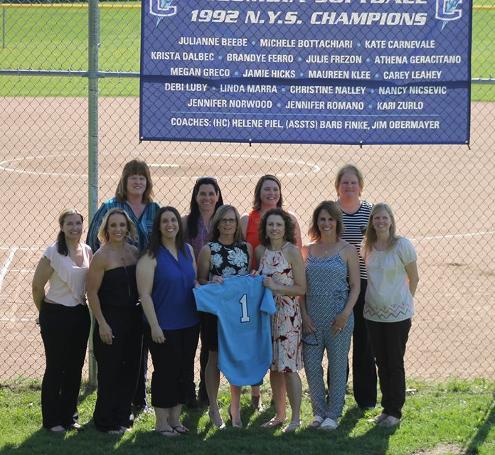 1992 Columbia Girls Softball team at Hall of Fame induction