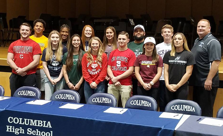 Columbia students sign college commitments