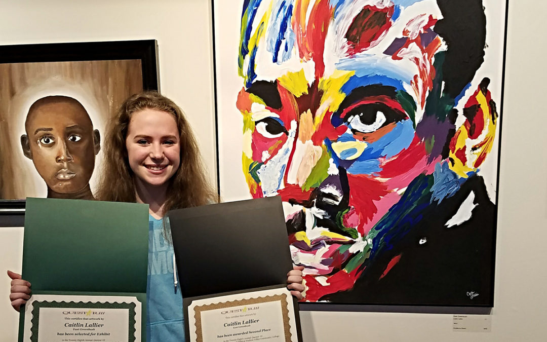 Caitlin Lallier Places 2nd at Questar III Juried Art Exhibit