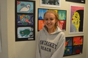 Mikala Hempstead at Art Show