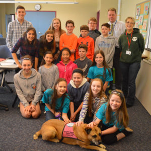 Students present donation to Peppertree