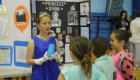 Students at the Interactive Wax Museum