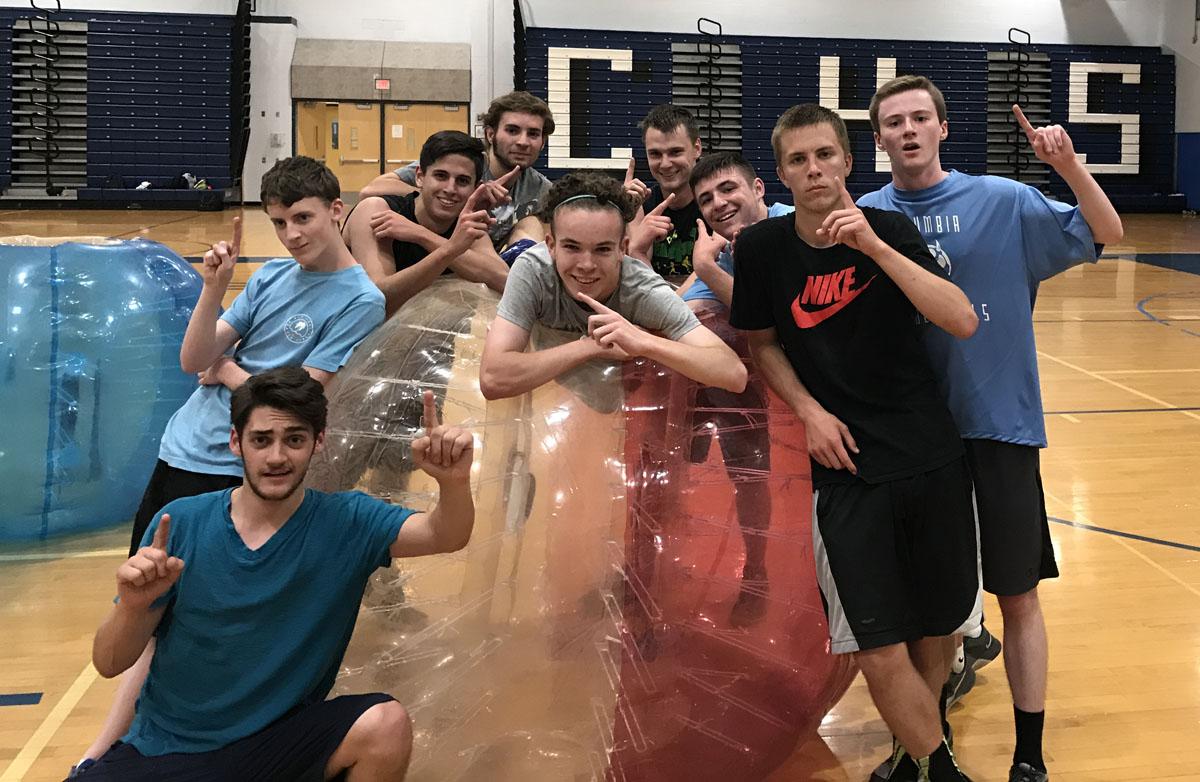 Bubble ball soccer tournament fundraiser