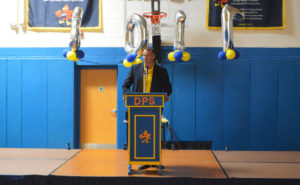 Mr. Alvey at DPS Moving Up Ceremony