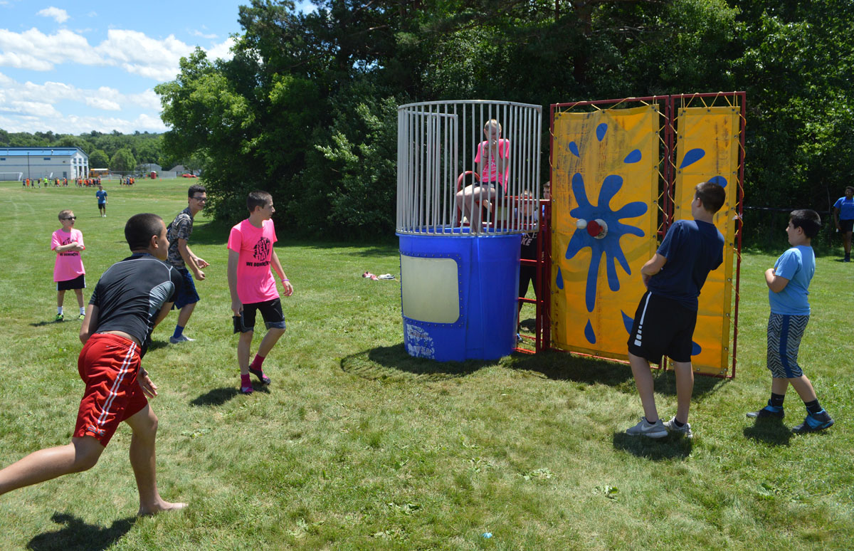 Dunking booth at Goff Field Day