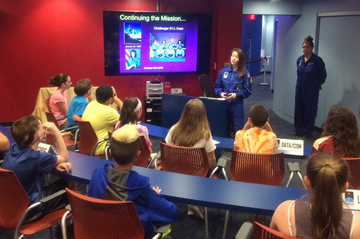 Goff students at miSci