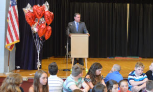 Mr. Simons at Red Mill Moving Up Ceremony
