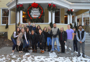 Students at the Ronald McDonald House