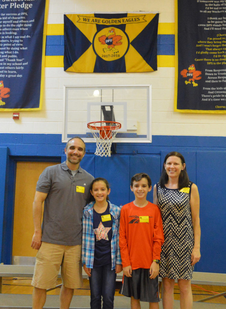 Shea Fajen with her family at DPS.