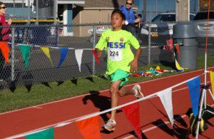 Student running in Barrett Memorial Run