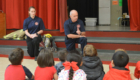 Firefighters talk to Bell Top students