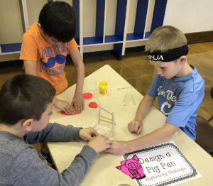 Genet students design a pig pen in the MakerSpace