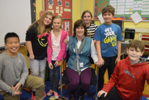 Karen Rossetti with students