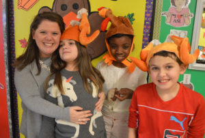 Paula Sobol with students