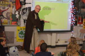 Sean Crall teaching on Star Wars Day