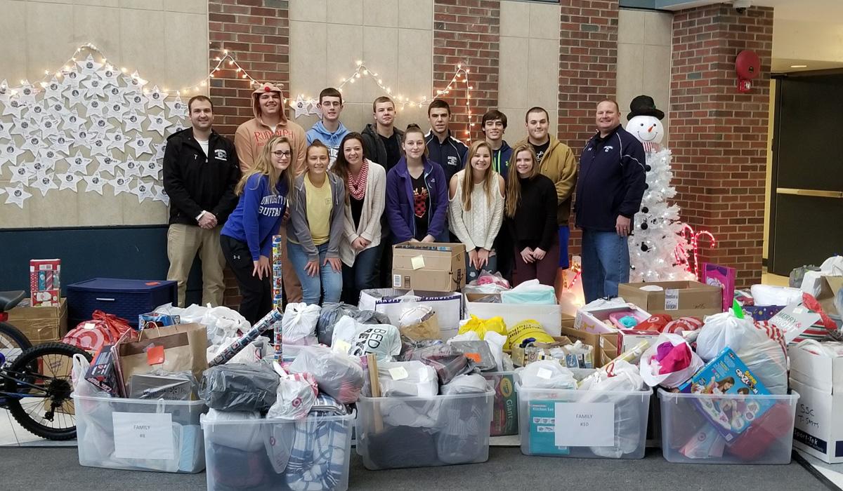 Athletics donates holiday gifts