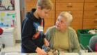 Students visit Beverwyck senior residents