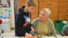 Students visit Beverwyck senior residents