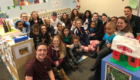 Students visit children at St. Anne's Institute