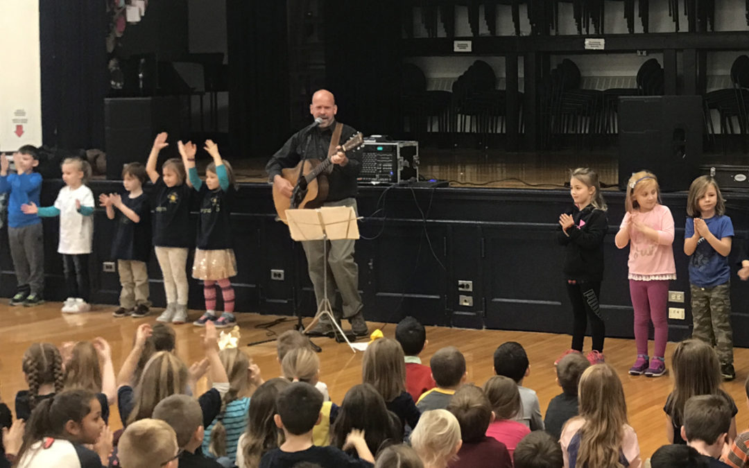 Guest Musician Plays at DPS Anti-Bullying Day