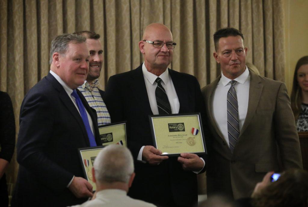 Columbia educators at Rotary Club awards