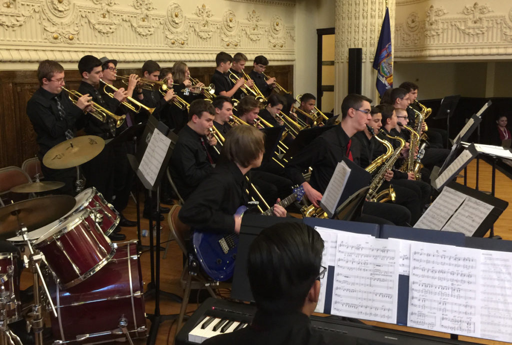 Columbia jazz band at State Education building