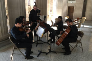 Columbia string quintet at State Education building