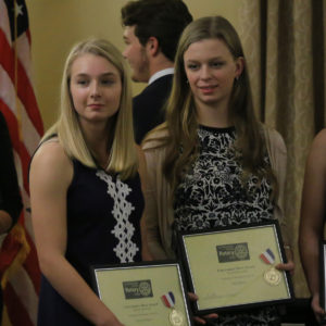 Columbia students at Rotary Club awards