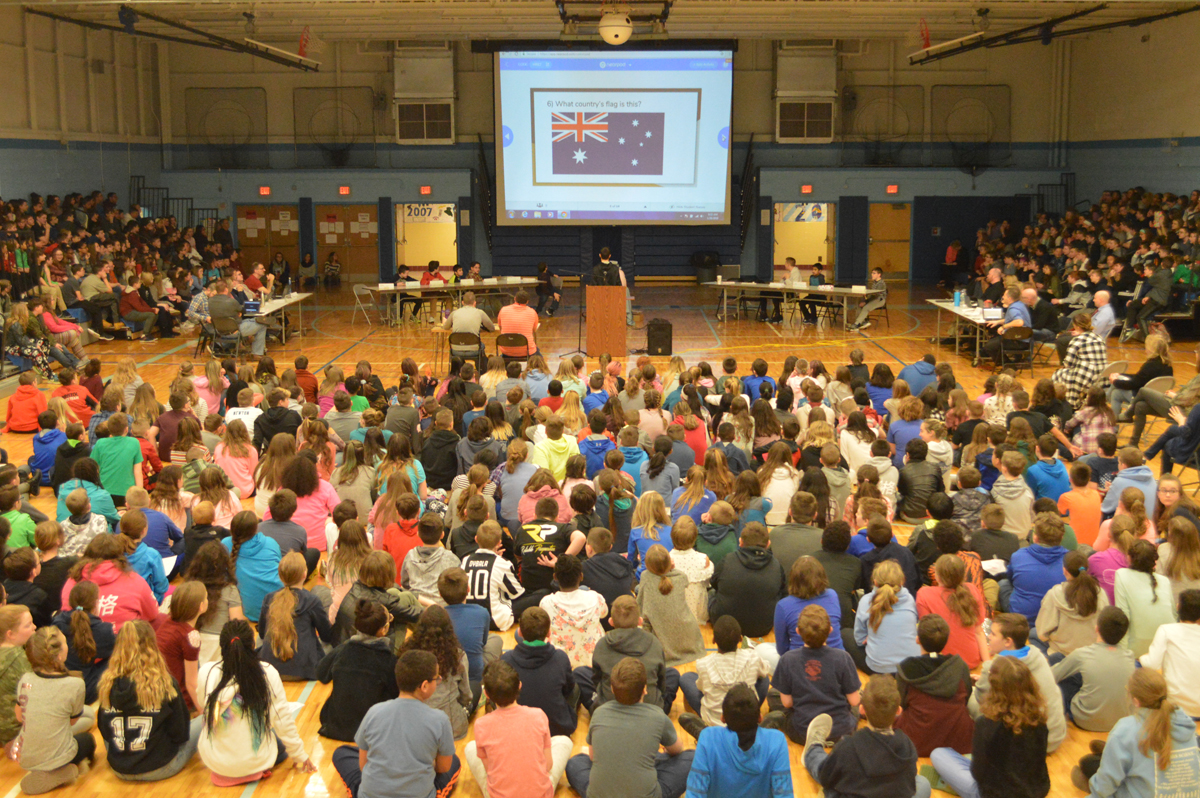 Geography Bee held in the Goff Middle School gym