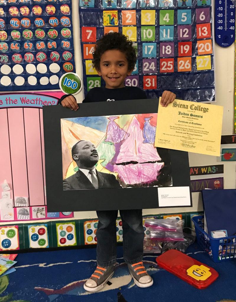 Jaiden Somers with artwork