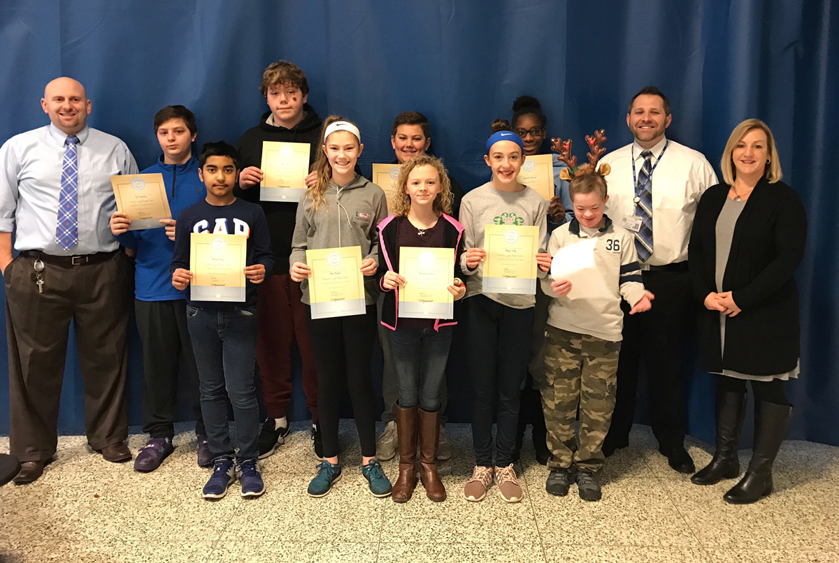 7th Grade Students of the Month