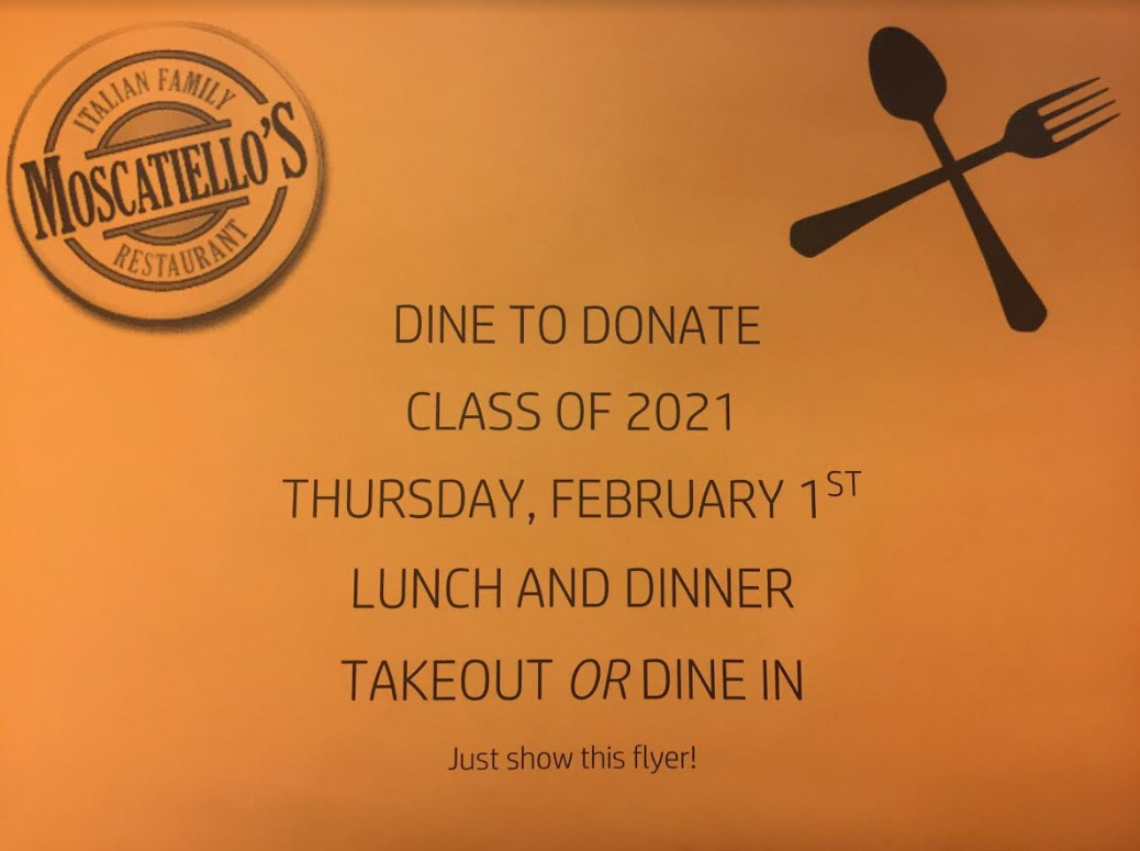 Moscatiello's dine to donate coupon