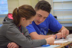 Alaina and Nathan B. testing